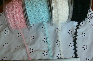 Looped-Polyester-Braid-12-15mm-wide-3Metres-WHITE-BLUE-PINK-amp-BLACK-Choice-AR8