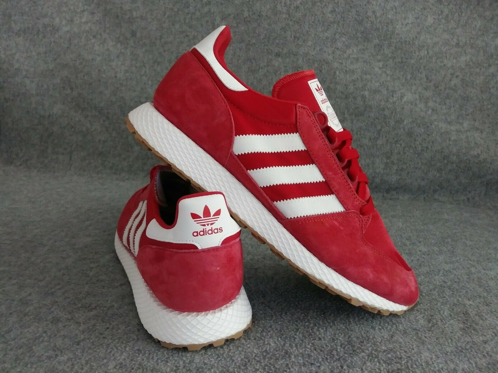 NEW Adidas Originals Forest Grove Athletic Lace Up Sneakers Scarlet Red Sz 10
