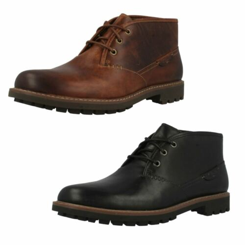 Mens Clarks Montacute Duke Leather Smart Lace Up Ankle Boots G Width Fitting