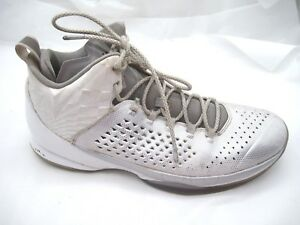 ca0f703bb90d9a Air Jordan Melo 11 silver white basketball mens shoes sz 12D 2014 ...