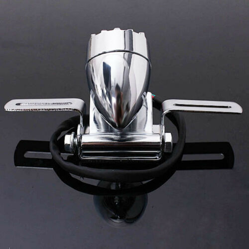DC12V 10W Chrome Plate Holder Motorcycle Grille Brake Stop Rear Tail Plate Light