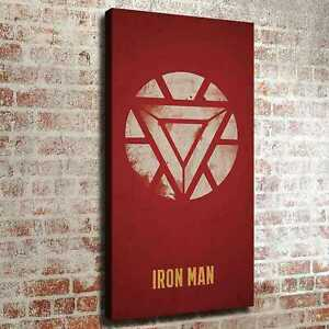 Details about Iron man logo HD Canvas print Painting Wallpaper Home decor  Room Wall art Poster