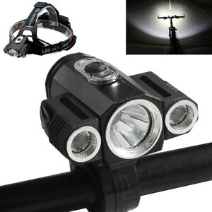 35000Lumens-Bike-Bicycle-Front-LED-Head-Light-Rechargeable-3xT6-Waterproof-Lamp