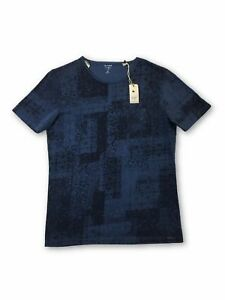 Olymp-Level-5-T-Shirt-in-blau-Blumenmuster-M-Rrp-40-00