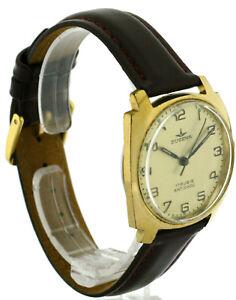 Dugena-Vintage-Herren-Armbanduhr-vergoldet-70er-Jahre-Handaufzug