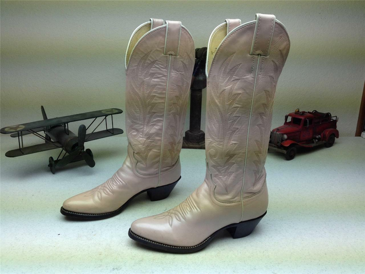 JUSTIN PINK LEATHER MADE IN USA WESTERN COWBOY DANCE BOOTS 5.5 B