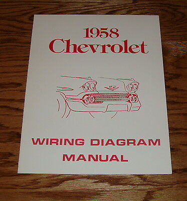 1958 chevy wiring diagram 1958 chevrolet passenger car wiring diagram manual 58 chevy ebay 1958 chevrolet wiring diagram passenger car wiring diagram manual