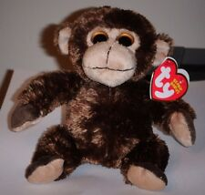 Ty Beanie Baby ~ VINES the Monkey (Big Eyes Version) ~ NEW with MINT TAGS
