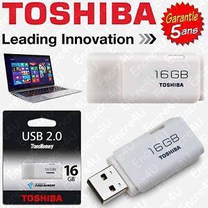 Cle-USB-16-Go-Gb-TOSHIBA-Dispo-aussi-en-version-8-et-32-Giga-Garantie-5-ans