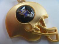 Baltimore Ravens 3D Gold Helmet Charm Necklace - NFL Licensed Jewelry Item