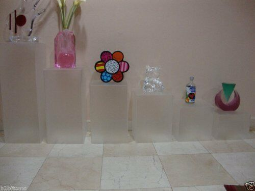 Displays2buy Pedestal Art Sculpture Stand Acrylic Lucite Display Cube