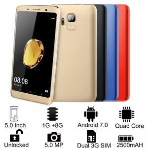"5.0"" 3G Smartphone S9 Libre Android 7.0 1GB 8GB Doble Sim Quad core Cámara 5MP"