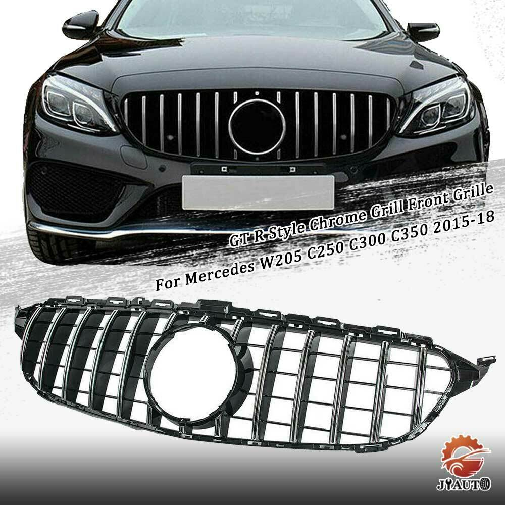 GT R Style Chrome Grill Front Grille For Mercedes W205