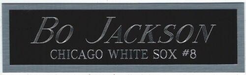 BO JACKSON WHITE SOX NAMEPLATE FOR AUTOGRAPHED SIGNED BASEBALL-BAT-JERSEY-PHOTO