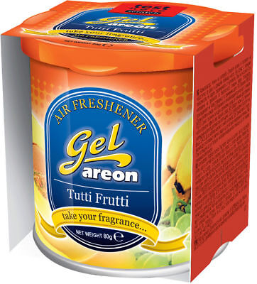 3x Originale Areon Gel Can Albero Profumato Deodoranti Coperchio Tutti Frutti