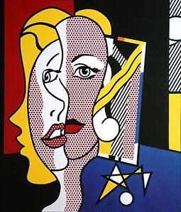 Roy Lichtenstein Kunstdruck Pop Art 46x53cm Female Head 1977 Frauenkopf Girl