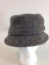 63ed80bd65f Harris Tweed S Brown Herringbone Tweed Scotland Wool Bucket Grouse Hat