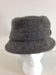 272c198a26cf3 Harris Tweed S Brown Herringbone Tweed Scotland Wool Bucket Grouse ...