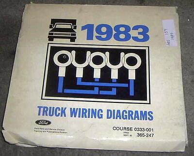 1983 FORD TRUCK F100 F250 F350 TRUCKS FACTORY WIRING ...