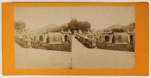 Palais Da Caserta Napoli Italia Foto Stereo PL55L4n Vintage Albumina