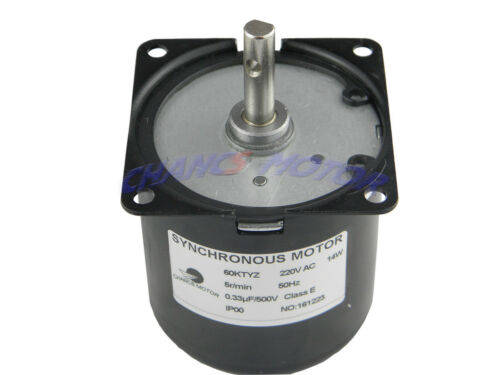 60KTYZ AC 220V 5//6RPM CW//CCW Synchronous Gear Box Motor Controllable Direction