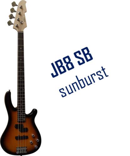 Zubehör JB8 FARBAUSWAHL Vision- Markenware+Gigbag-Tasche E-Bass Piks Band
