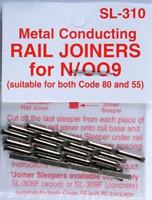 Peco SL-310 N and OO9 Gauge 24 Track Rail Joiners Model Railway Fishplates New