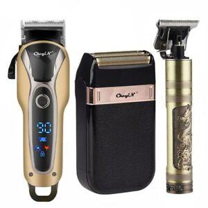 Tondeuses à Cheveux et Barbe Professionnelles à Affichage LED Rechargeables
