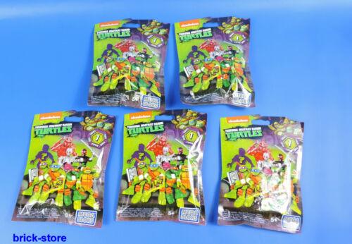 Serie 1 MEGA BLOCKS Teenage Mutant Ninja Turtles Sammelfiguren DMX21 5 Stück