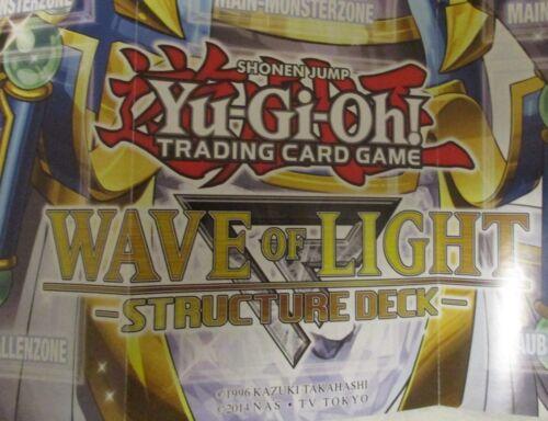 Inutilisé Playmat 2 pièces Yugioh Wave of Light plateau de jeu jeu Support