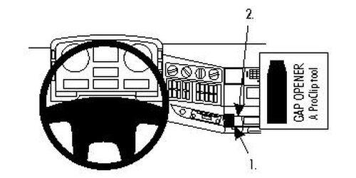 Brodit ProClip 853993 Montagekonsole für MAN TG-series Baujahr 2000-2014