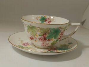 Royal Doulton Antique Floral Bone China Tea cup & Saucer England H 4836