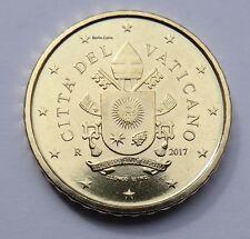 Offizielle 50 Cent Kursmünze Vatikan 2017 BU mit Wappen von Papst Franziskus