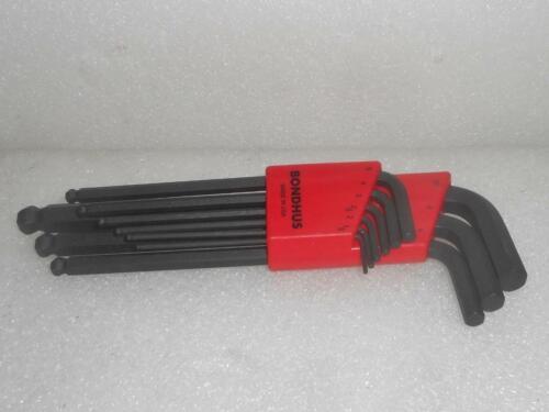 New Bondhus 10999 BLX9M 9-Pieces Metric Ball End Hex L Wrench Set 1.5-10mm