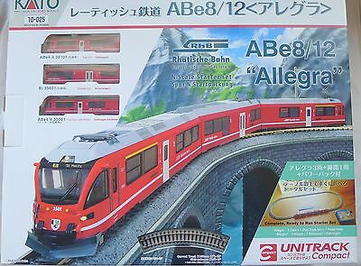 Kato N Scale Starter Set  10-025 Swiss Rhaetian Railway ABe 8/12 Allegra