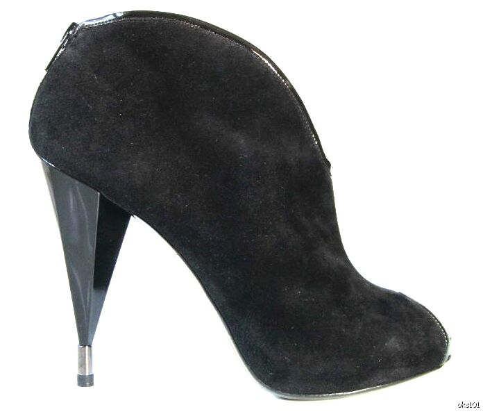 SEXY new MARC JACOBS peep-toe heels shoes bootie ANKLE BOOTS Italy 38.5 US 8.5