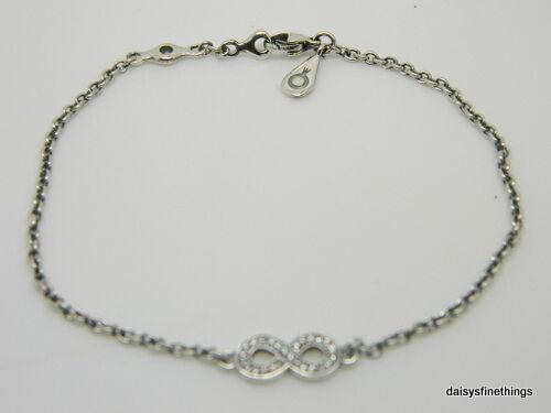 New Authentic Pandora Bracelet Symbol Of Infinity 590509cz 18 7 1in P
