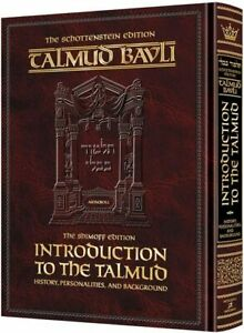 Artscroll Introduction to the Talmud English Full Size History Personalities