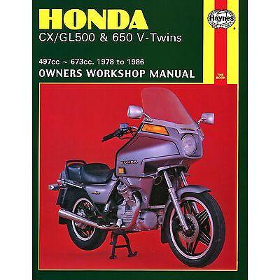0442 Haynes Honda CX/GL500 & 650 V-Twins (1978 - 1986) Workshop Manual