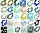 25pcs 6x12mm #6010 Faceted Crystal Glass Teardrop Beads Finding Pendants