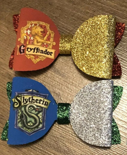 environ 7.62 cm Handmade Serpentard et Gryffondor Harry Potter 3 in Bows