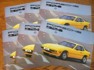1977-Porsche-924-Dealer-Sales-Brochure-LOT-6-pcs-MINT