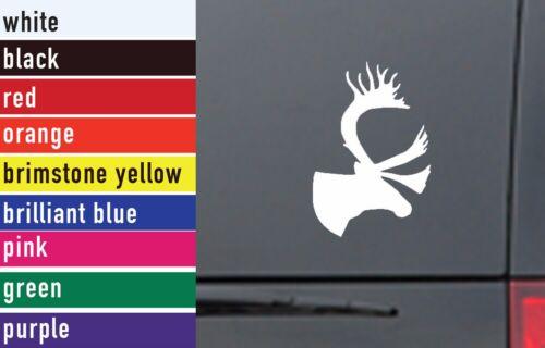 Caribou Hunting Vinyl Sticker Decal Car-Truck Laptop-Netbook 1627