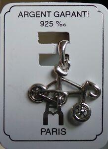 Colgante-de-plata-esterlina-0-925-Carretera-Bicicleta-con-encanto-Colgante