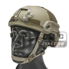 Emerson Tactical ACH MICH 2001 TC-2001 Helmet Advanced w/ NVG Shroud + Side Rail