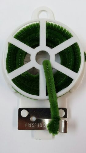 Moss Green Chenille on Spool with Cutter Floral Craft Wire 1 roll