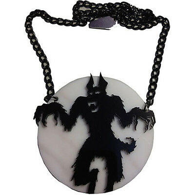 Kreepsville 666 Howling At The Moon Acrylic Necklace Werewolf Horror Halloween