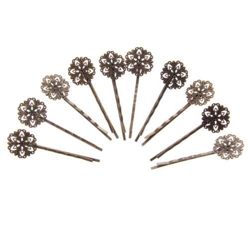 Ensemble 10Pcs Épinglette Cheveux Pince Floral Motif Barette Chignon Femme Bijou