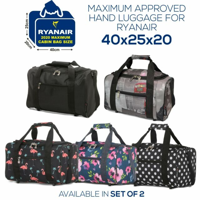 DUA Lightweight Strong Cabin Sized Approved Hand Luggage Flight Bag Travel Bag