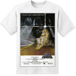 STAR-WARS-VINTAGE-A-NEW-HOPE-RETRO-MOVIE-POSTER-T-SHIRT-The-Last-Jedi-VIII